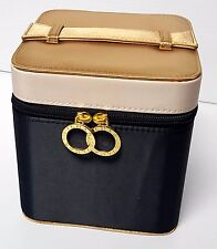 Bvlgari Black & Gold Makeup COSMETIC Travel Train CARRYING CASE NEW! only $17.99