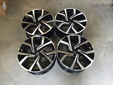 "19"" vw golf gti clubsport brescia style roues-noir brillant usiné MK5 6 7 A3"
