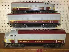 Lionel 8365, 8366 & 8469 Canadian Pacific A-B-A F3's Diesels