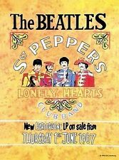 Beatles Sgt Peppers Lonely Hearts Club Bank small steel sign 200mm x 150mm (og)
