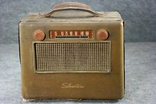 Old Silvertone Portable Wood Tube Radio