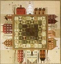 QUILTED VILLAGE COMPLETE SET OF 12 QUILTING PATTERNS, From The City Stitcher NEW