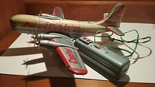 Linemar 1950 Vintage Tin Litho Capital Viscount Airline Airplane Marx Battery Op