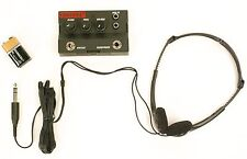 GUITAR & BASS HEADPHONE AMPLIFIER & HEADSET CLEAN TO METAL & DURACELL 9V BATTERY