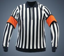 Powertek V3.0 hockey referee jersey linesman snap on bands senior small orange
