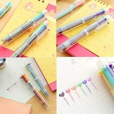 Cartoon Ball-Point Pen Colorful Rainbow Wings Frog Ball Point Pen 6 In 1