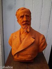 Paul Déroulède Sculpture en Terre Cuite  Buste Ancien 30cm French Antique