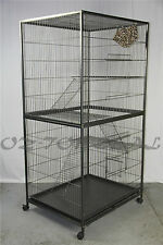 180 cm 4 Levels Bird Parrot Cage Aviary Ferret Cat Budgie Hamster House W Castor