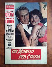 UN MARITO PER CINZIA fotobusta poster affiche Houseboat Sophia Loren Cary Grant