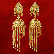 Ethnic Indian Goldplated Jhumka Jhumki Women Wedding Chandelier Earrings Jewelry