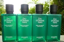 HERMES D'ORANGE VERTE TEN 1.35OZ BOTTLES BUBBLE BATH + TWO 5.2OZ JUMBO SOAPS