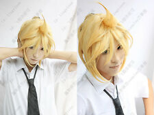 Kagamine Len VOCALOID Short Cosplay Wigs Blonde wig #006
