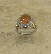 VICTORIA WIECK SUNRISE FIRE OPAL GEMSTONE STERLING SILVER RING SIZE 5 HSN $149
