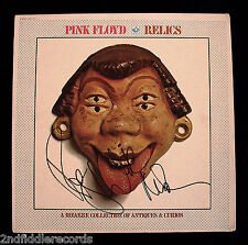 PINK FLOYD-Autographed RELICS Album Cover By Roger Waters & Nick Mason-JSA COA