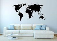 WANDTATTOO Welt Karte Weltkarte Erde - sehr detailliert - 8 Größen XXL W15