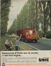 Publicité Advertising  camions UNIC simca industries