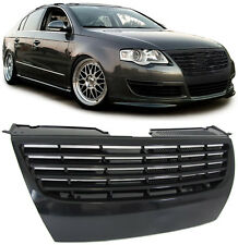 BLACK DEBADGED SPORTS BONNET GRILL FOR VW PASSAT B6 3C2 3C5 03/2005-7/2010