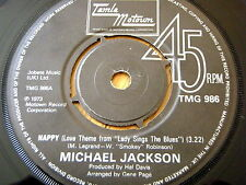 "MICHAEL JACKSON - HAPPY (THEME FROM LADY SINGS THE BLUES)  7"" VINYL"