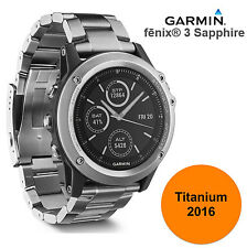 Garmin Fenix 3 Sapphire Titanium GPS Watch Cycling Bike Sports Running New Model