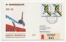 1977 NATION UNIES SWISSAIR VOLO GENEVE-MONROVIA C/1644