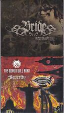 LOT OF 2 CHRISTIAN METAL CDs-BRIDE-INCORRPTIBLE + DALE THOMPSON WORLD WILL BURN