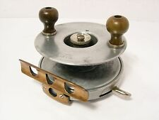 "Vintage Antique Alloy Brass Combination Army & Navy 4 ½"" Big Game Fishing Reel"