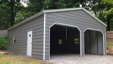 22 x 26 x 9 Metal Building Delivered and Installed - Two Car Garage and Storage