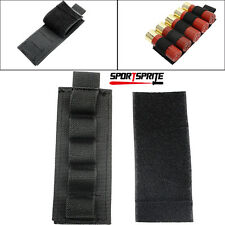 5 Pics Portable 5 Round Shell Reload Strip Shotgun Ammo Carrier Bullet Pouch BK