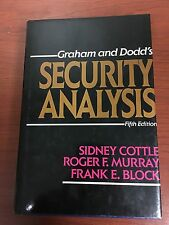 Security Analysis by Frank E. Block, Sidney Cottle and Roger F. Murray (1988,...