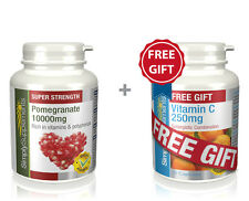 SimplySupplements Pomegranate 10000mg 240Tabs + FREEGIFT Vitamin C 250mg 30Tabs