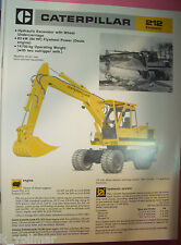 ✪altes original Prospekt INFO Sales Brochure CAT Caterpillar 212 Excavator
