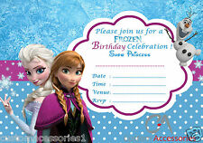 20 FROZEN ELSA PARTY INVITATIONS KIDS,CHILDRENS INVITES BIRTHDAY A5