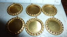 Vintage brass stampings findings round flat settings jewelry makers  A64