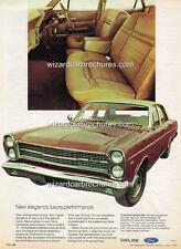 1971 FORD AUST ZD FAIRLANE 500 A3 POSTER AD SALES BROCHURE ADVERTISEMENT ADVERT