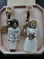 BRAND NEW! JUICY COUTURE WEDDING BRIDE & GROOM CHARM IN TAGGED BOX
