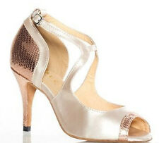 New Women  Nude Leather And Snakesk Print Latin Salsa Tang Dance Shoes ALL SIZE