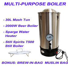 30L Multi-Purpose Electrical Boiler Brew-In-Bag Mash Tun Sparging Heater