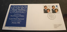 Stamps First Day Cover of Prince of Wales and Lady Diana 22nd July 1981
