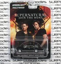 GREENLIGHT 1:64 Hollywood SUPERNATURAL Black 1967 Chevrolet IMPALA Sport Sedan