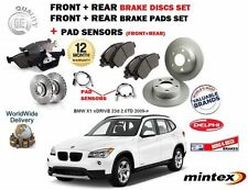 FO BMW X1 xDRIVE 23d 2.0TD 2009-  FRONT & REAR BRAKE DISCS SET + PADS KIT SENSOR