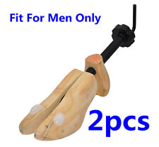 Pair MEN 2-Way Shoes Stretcher Wooden Shoes Shaper Tree US Sizes 8-14 Adjustable