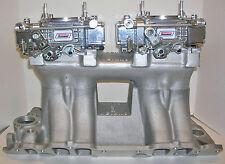 QUICK FUEL 600 CFM 2X4 DUAL QUAD TUNNEL RAM CARBURETORS VACUUM CUSTOMIZED FREE