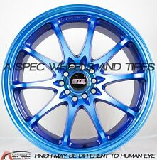STR 518 17X9 5X100/114.3 +20 Neon Blue Rims Fits Accord Civic Crv 240Sx Tc Tsx