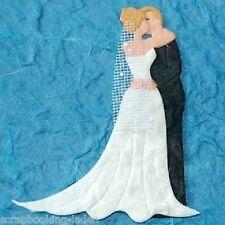 2 Brautpaare Hochzeit Scrapbooking Basteln 3-D Karten