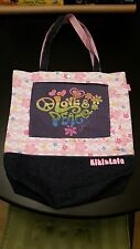 KIKI & LALA Little Twin Stars Purse Tote Book Bag Levi's Denim Love Peace Sanrio