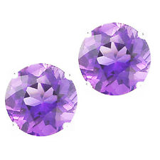 @@ Wholesale 925 Sterling Silver 1.50ct Lavender Solitaire Round Stud Earrings