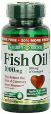 Nature's Bounty Fish Oil 1000mg w/300 mg of Omega-3, 60 Softgels - EXP 9/16