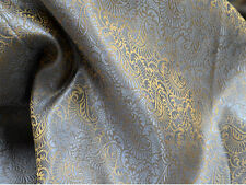 Brocade Fabric Grey Gold brocade jacquard fabric Art silk fabric