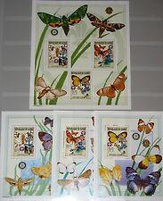 GUINEA 2002 Klb 4026-28 Block 798-00 2216 Boy Scouts Pfadfinder Butterflies MNH