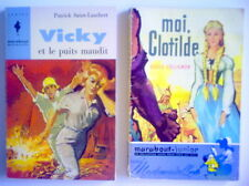 LOT DE 2 ANCIENS LIVRES DE 1957 ET 1964, MOI CLOTILDE ET VICKY & LE PUITS MAUDIT